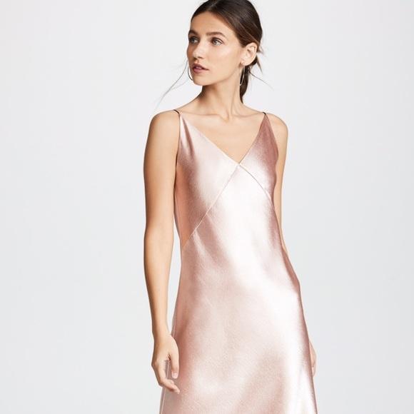 5743d76a0ad3 Vince Dresses   V Neck Midi Slip Dress   Poshmark